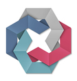 Stylized abstract origami element for design vector image vector image