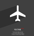 airplane icon symbol Flat modern web design with vector image