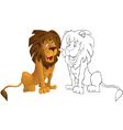 Caroon leon vector image