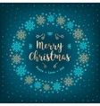 Christmas card Holiday Xmas wreath gold vector image