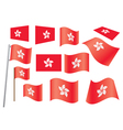 Flag of Hong Kong vector image