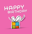 Happy Birthday to You Theme on Pink Background vector image