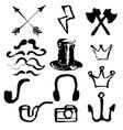 Hipster symbols set vector image