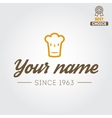 Logo or badge for restaurant cafe and bar vector image