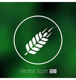 Wheat ear technical logo template Construction or vector image