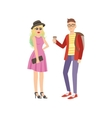 Cool Street Fashion Look Couple vector image