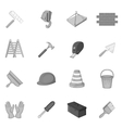 Working tools icons set black monochrome style vector image