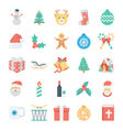 Christmas and Easter Colored Icons 1 vector image