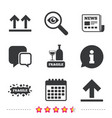 fragile icons delicate package delivery vector image