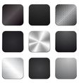 Apps metal-carbon icon set vector image