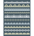 Set of Lace Paper for christmas with snowflakes vector image