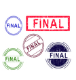 5 Grunge Stamps FINAL vector image