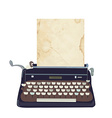 Typing machine - retro style vector image
