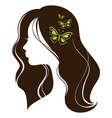 Beautiful girl with butterflies vector image vector image
