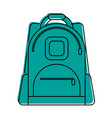 backpack school supply icon image vector image
