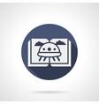 Childrens sci-fi literature blue round icon vector image