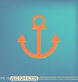 Nautical Anchor anchor seafaring character icon vector image