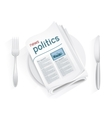 news politics tablewares vector image