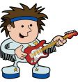rock and roll musician vector image