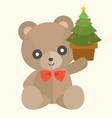 teddy bear with present set 2 vector image