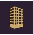 The building icon Apartment and skyscraper vector image