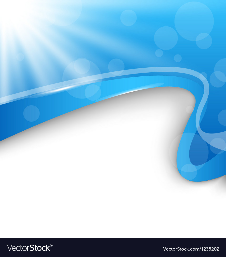 Abstract wavy background with blue rays vector
