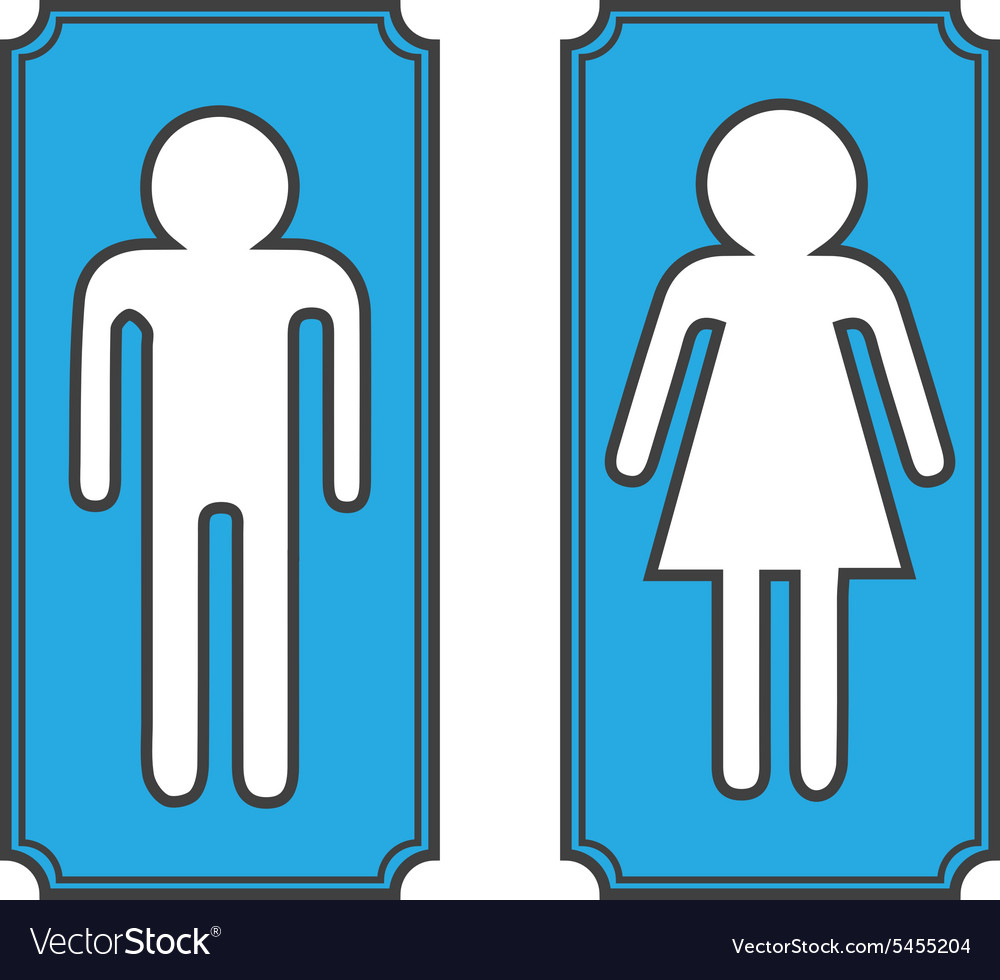 Restroom banners toilet signs vector