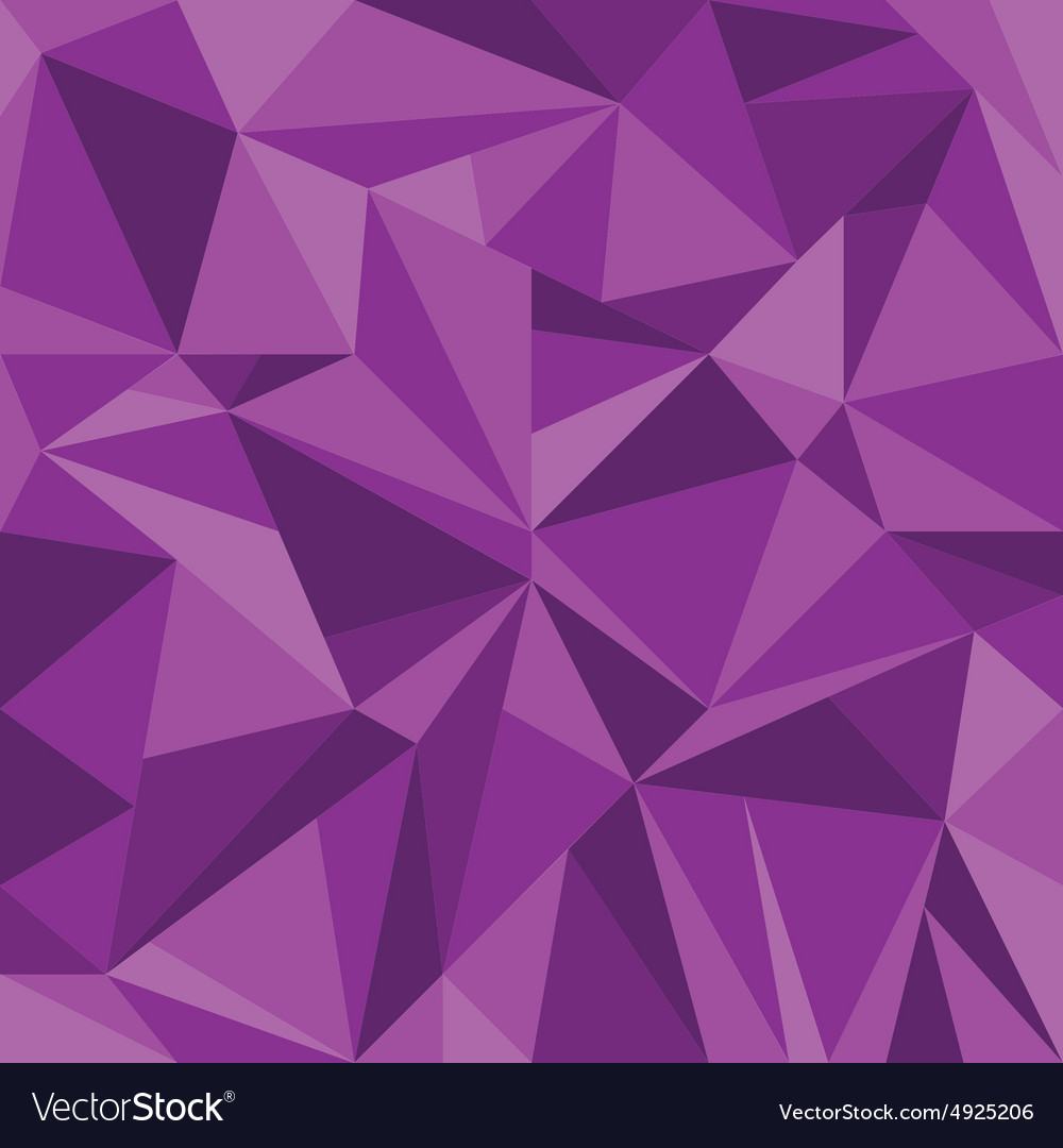 Abstract purple triangle geometrical background vector