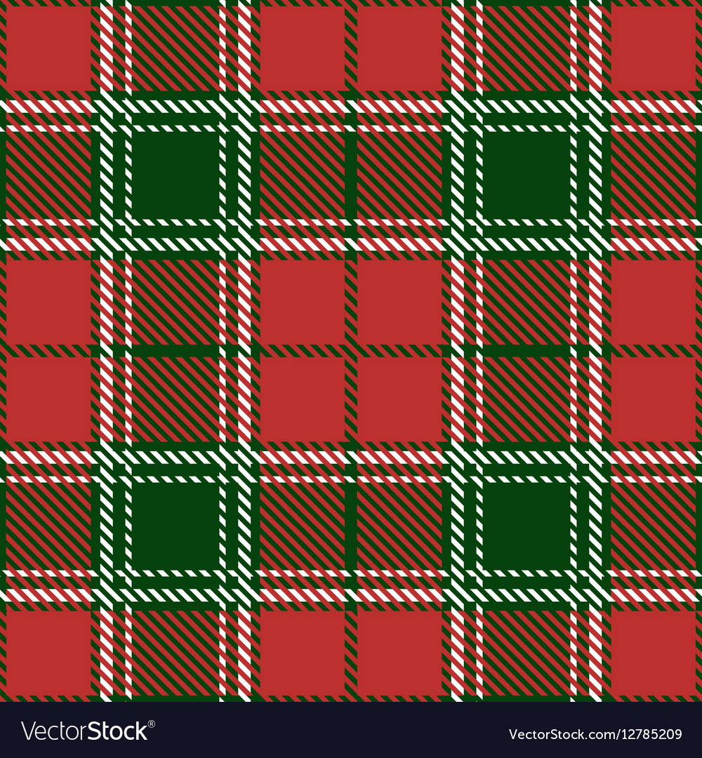 Christmas tartan seamless patterns vector