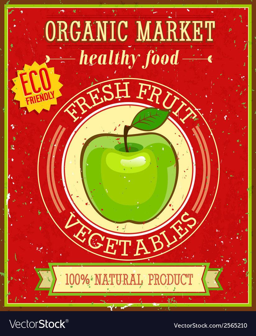 Fresh fruit and vegetable vector