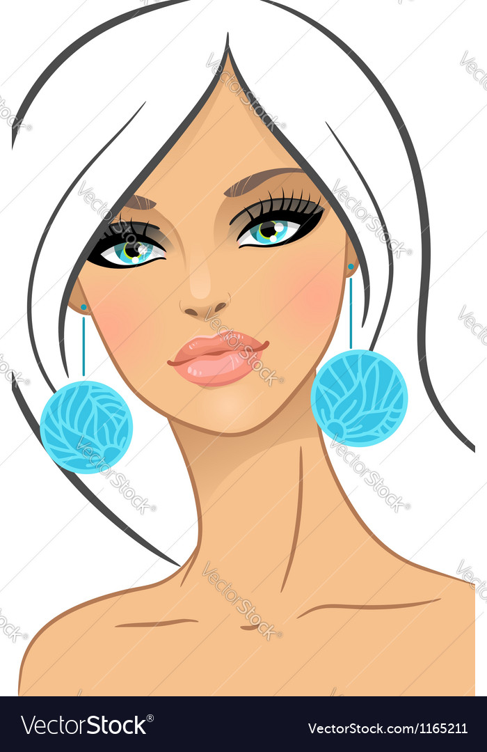 Beautiful girl in fashion style vector
