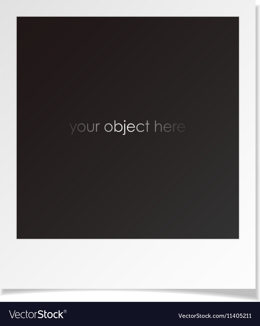 Photo polaroid frame for your object vector