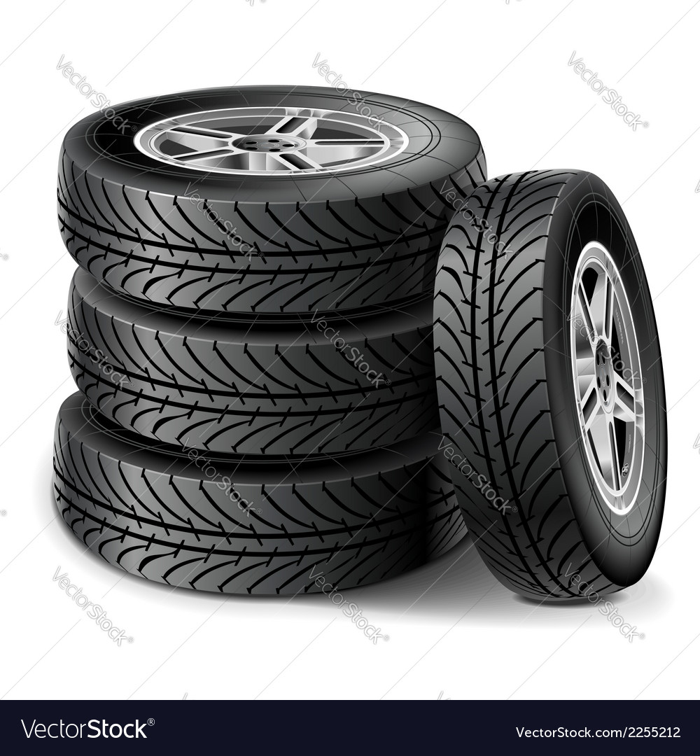 Tire set vector