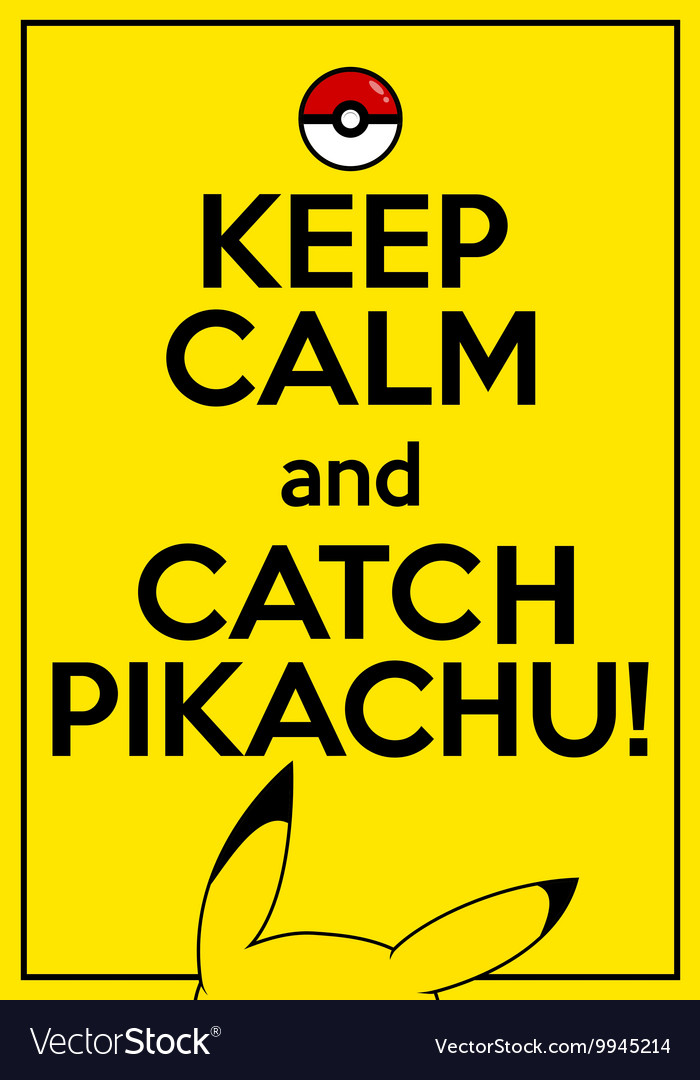 Poster with quote keep calm and catch vector