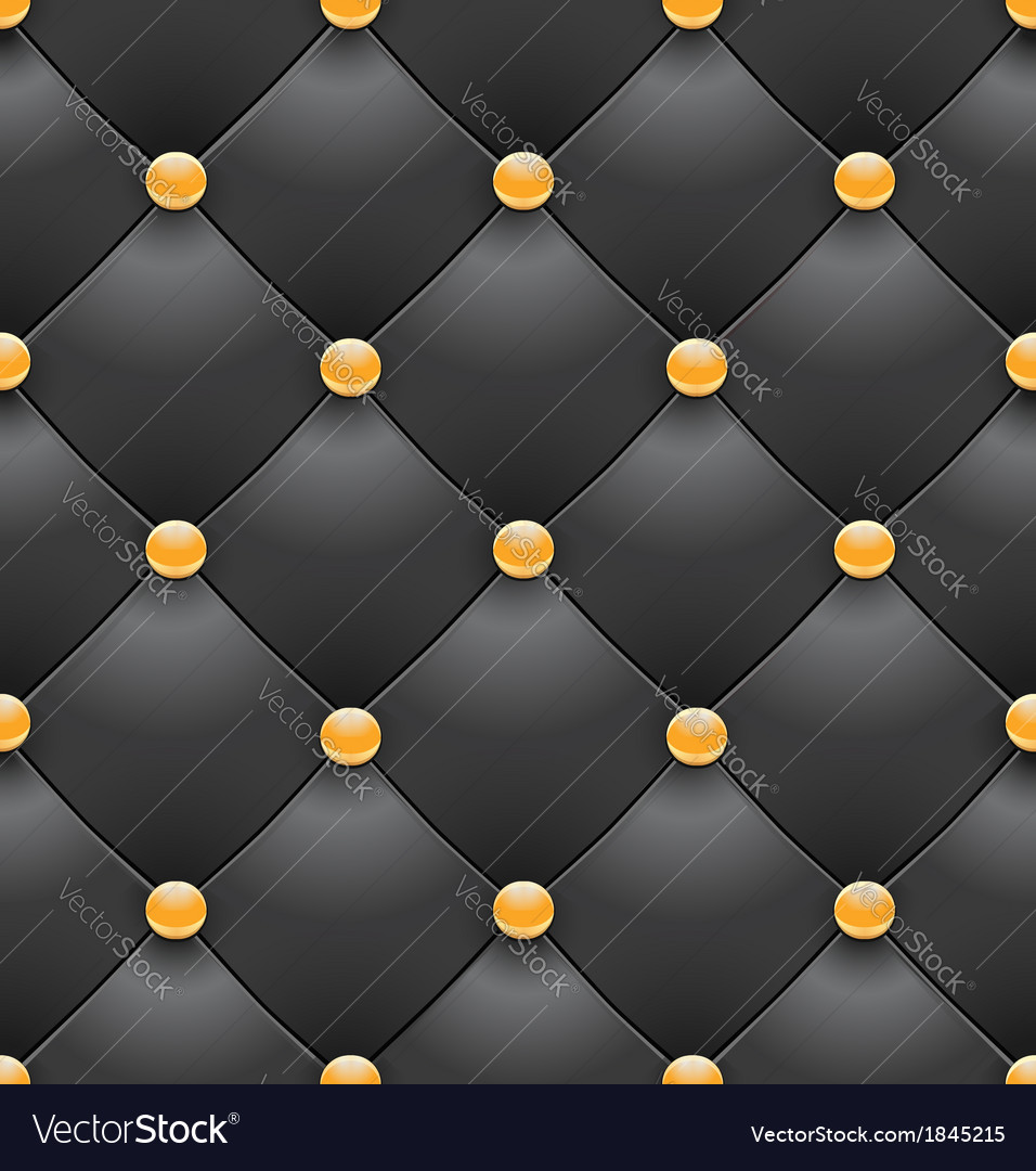 Black royal upholstery seamless background2 vector