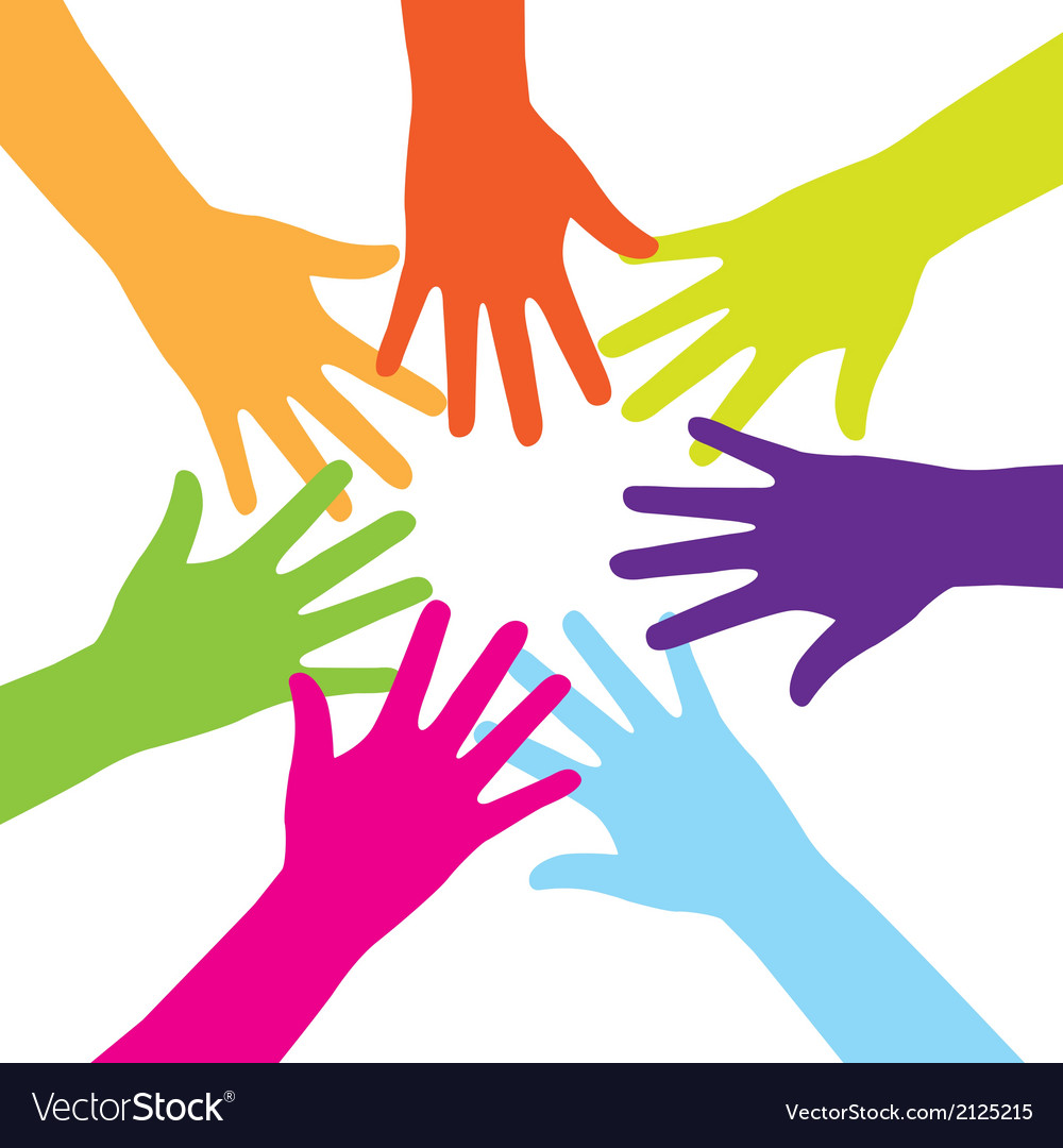 Colorful hands vector