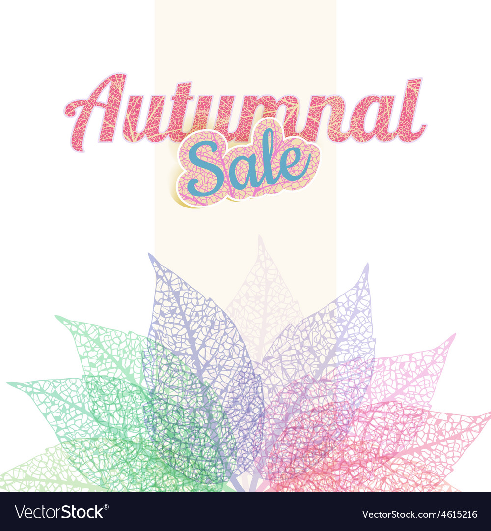 Autumnal sale background eps 10 vector