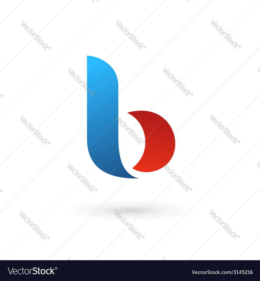 Letter b logo icon vector