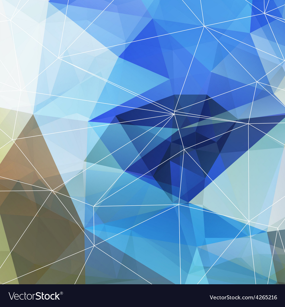 Polygonal abstract geometry background vector