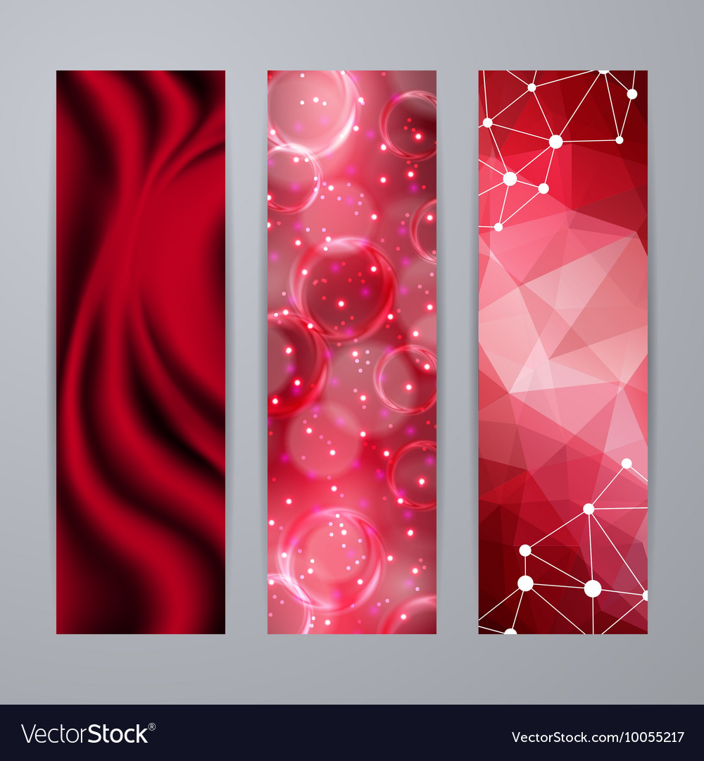 Set of templates for banners vector