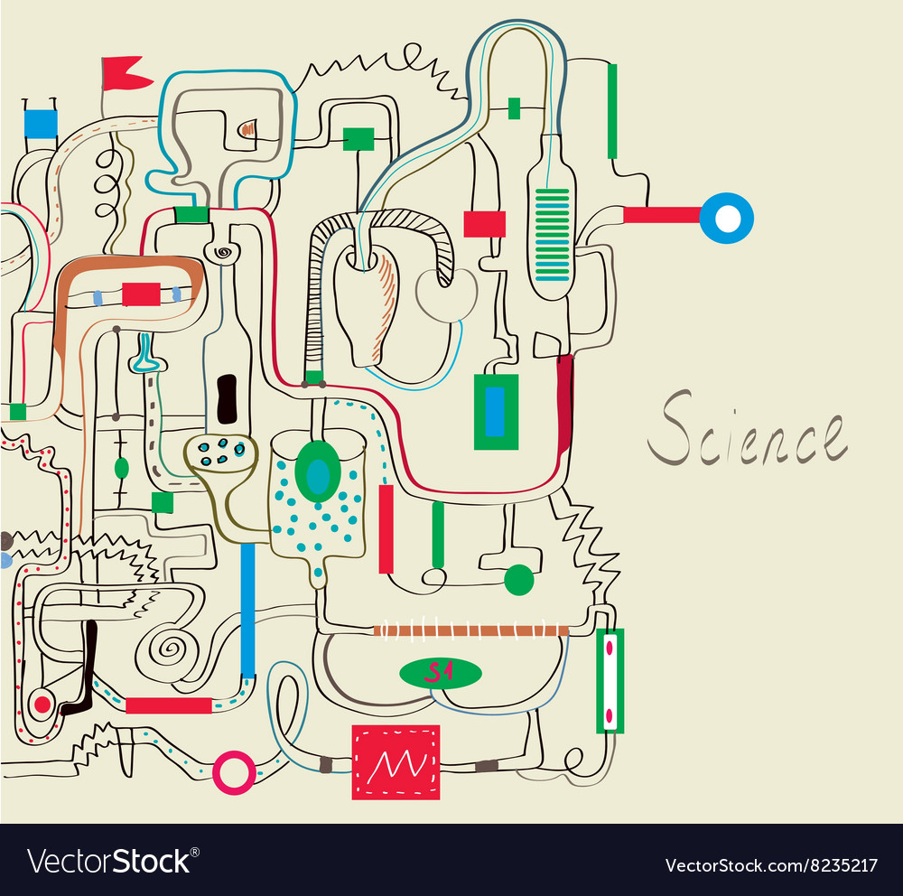 Technical background for the industry with vector