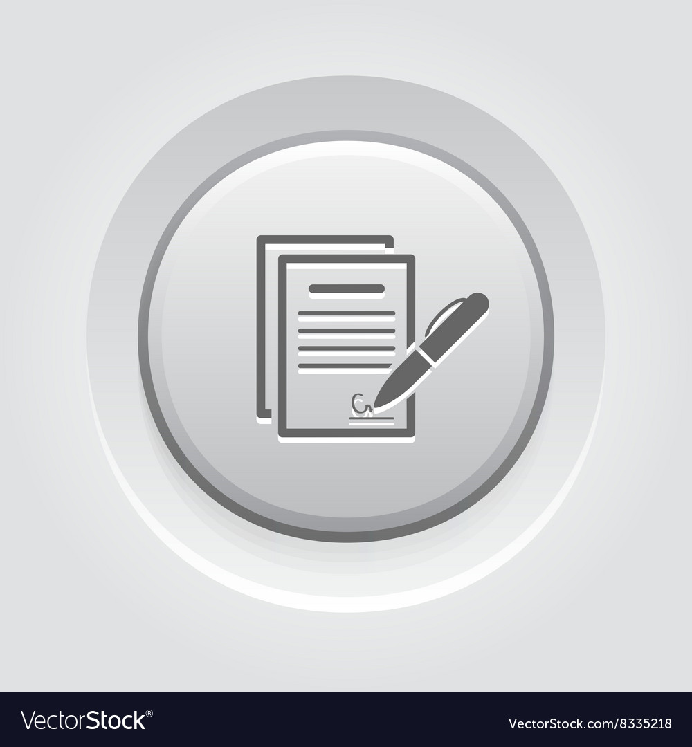 Signing contract icon business concept vector