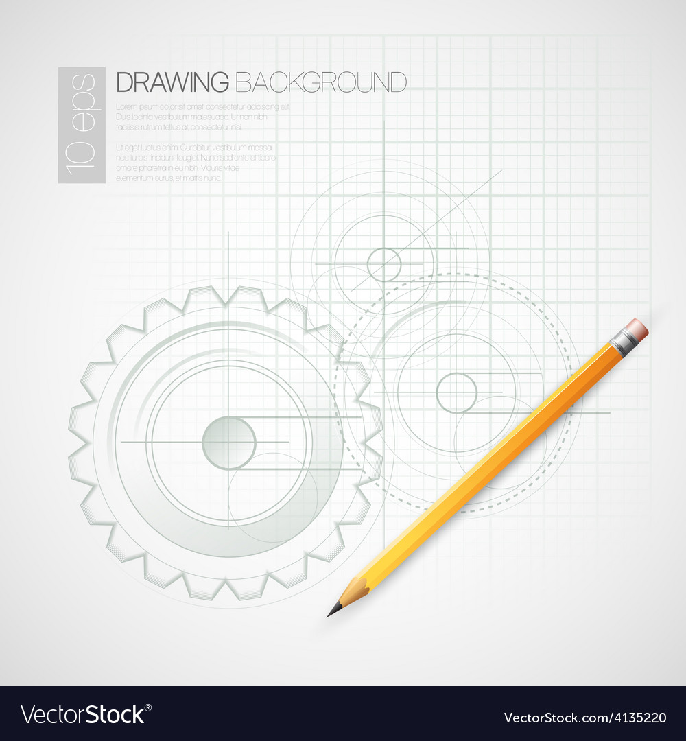 Background drawing with pencil vector