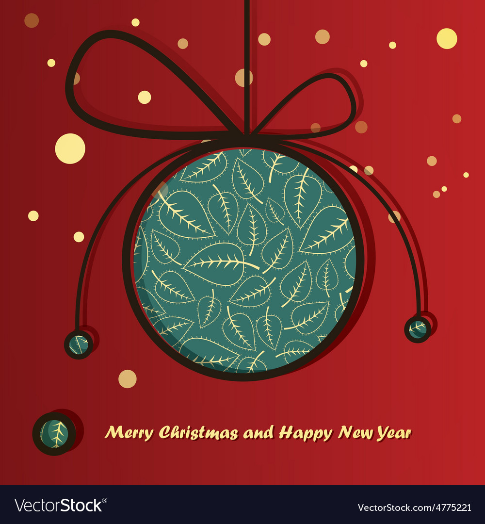 Christmas ball with flowers inside vector