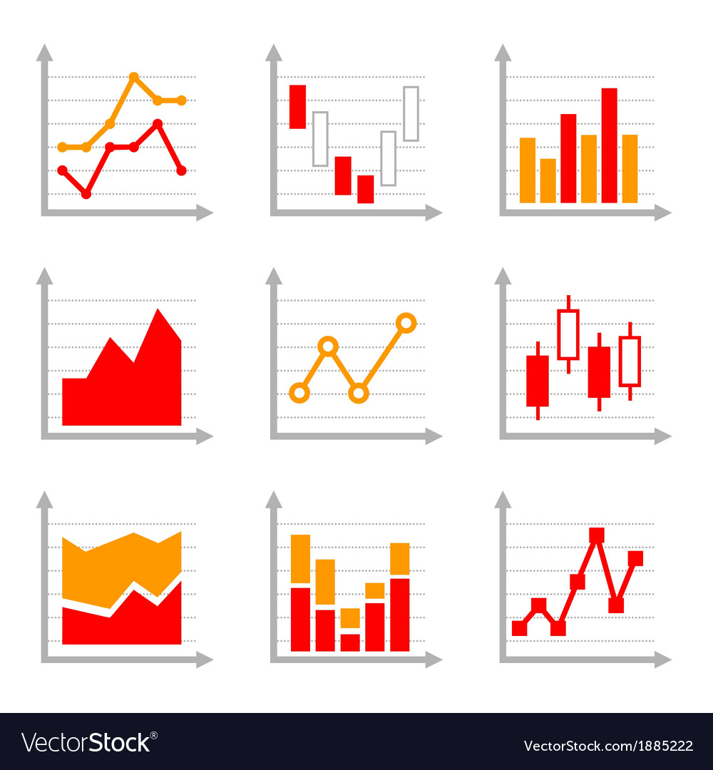 Business infographic colorful charts and diagrams vector