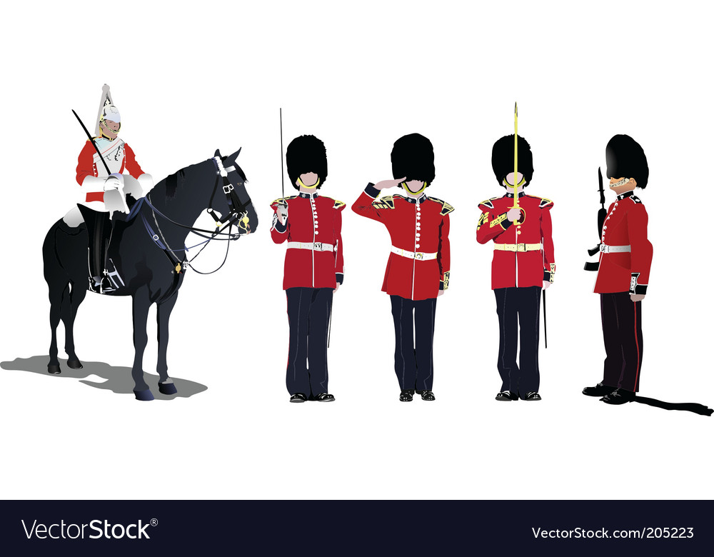 Five guards vector