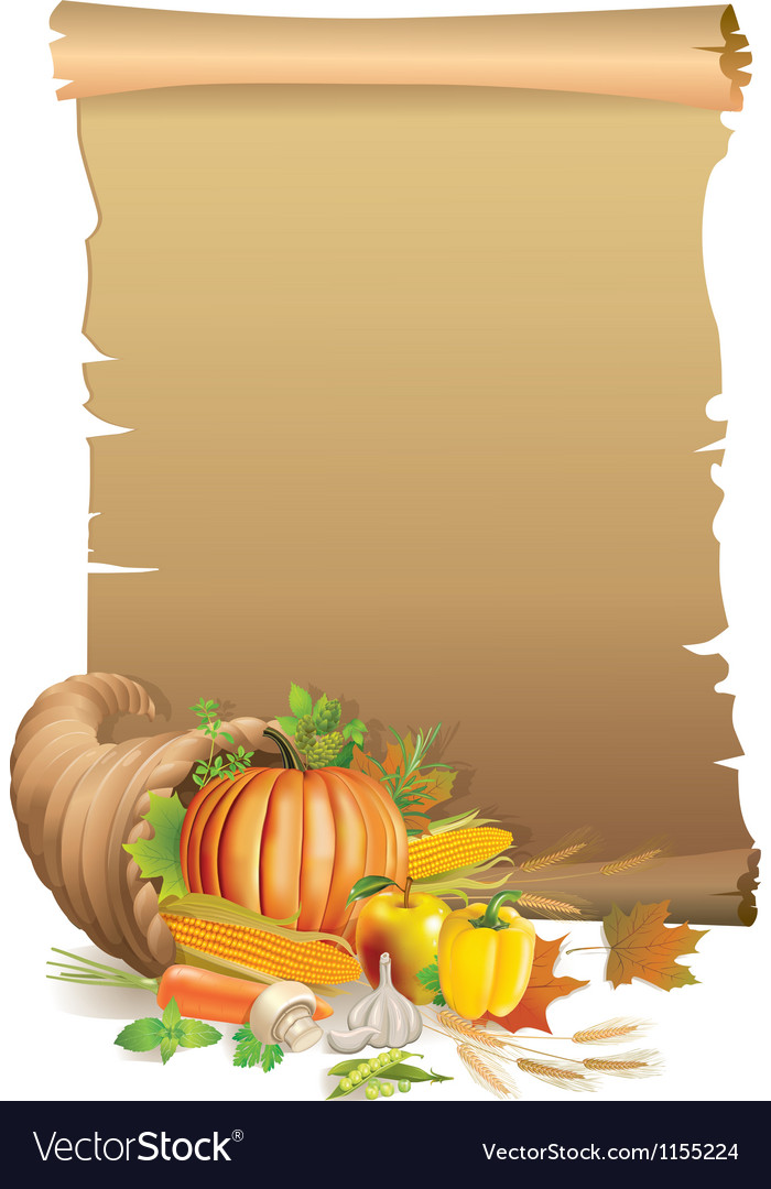 Retro background thanksgiving vector