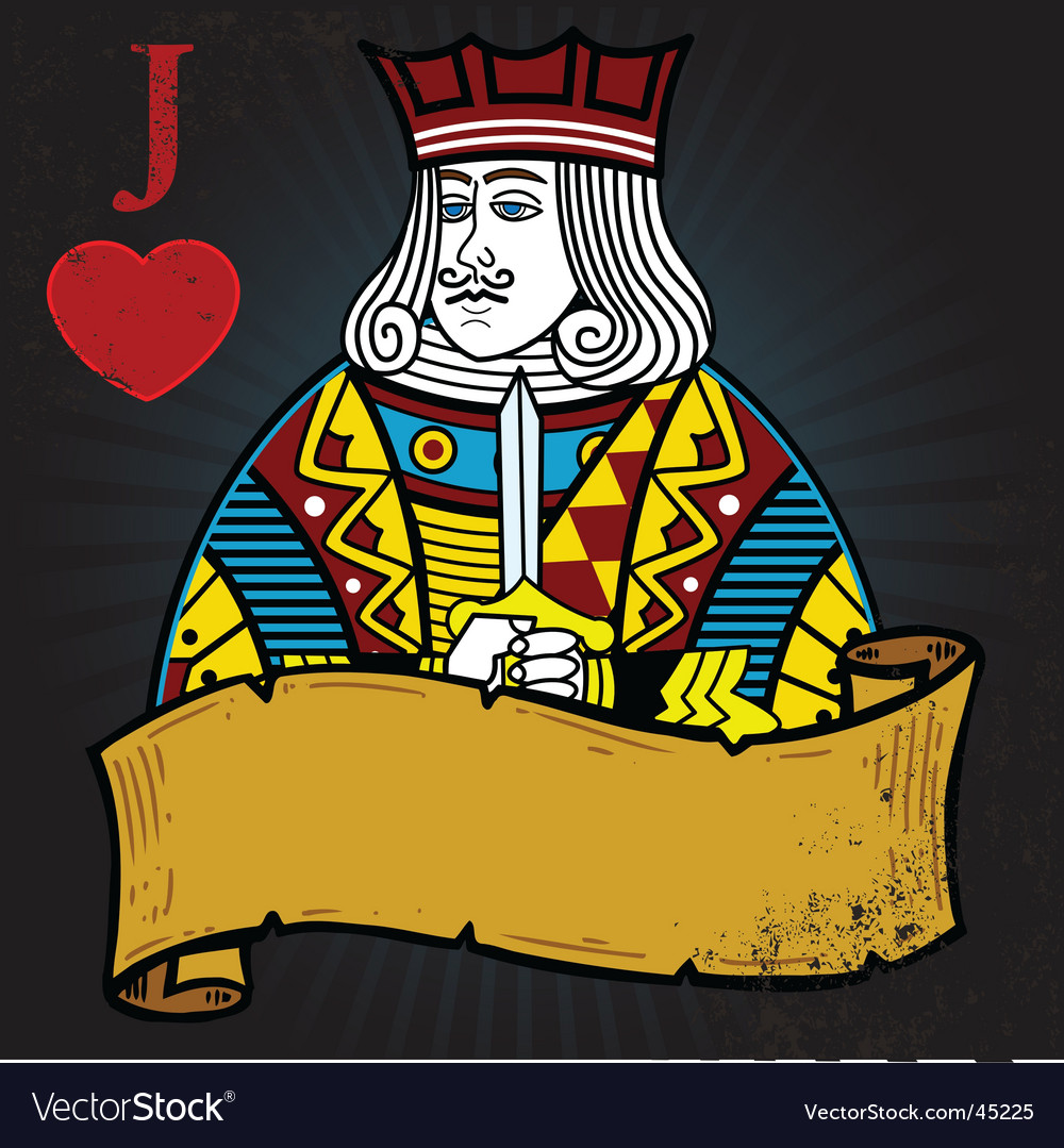 Jack of hearts vector
