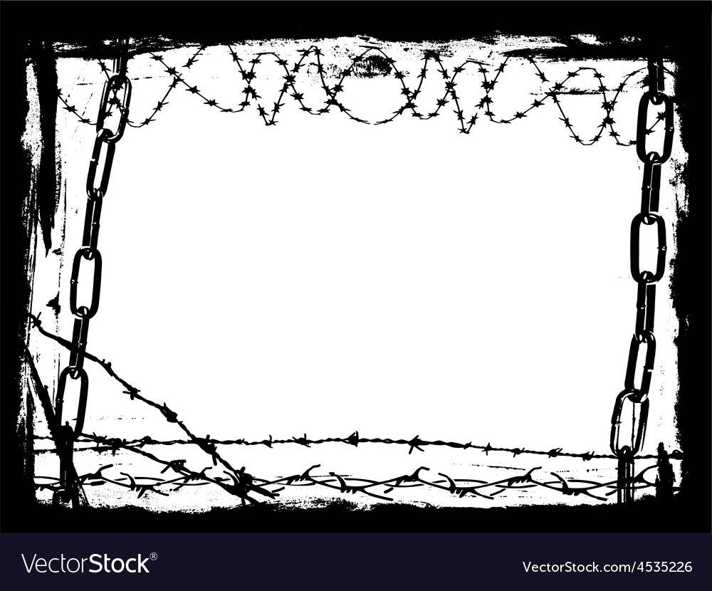 Border of black chains 3 vector