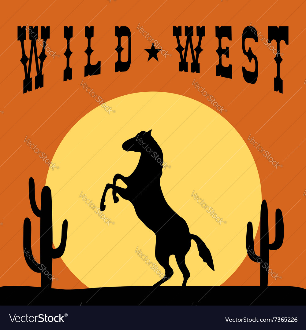 Wild west typography graphics design vector